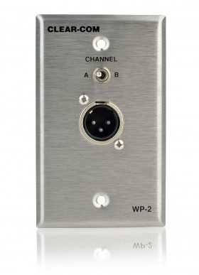 2-Channel 3-Pin Selectable Intercom Outlet Wall Plate