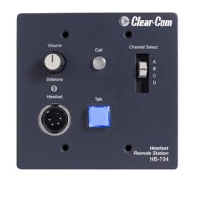 HB-704 4-Channel Flush-Mount Headset Station