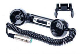 HS-6 Telephone style handset with wall/console mount hanger