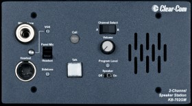 KB-702GM 2-Channel Flush Mount Headset/Speaker, plus Gooseneck microphone connector options