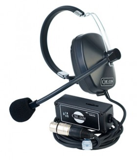 SMQ-1 Que-Com Single Ear Headset/Beltpack