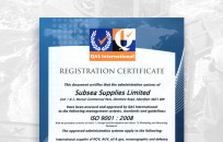 ISO seal of approval for Subsea Supplies